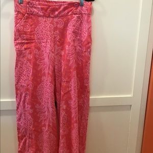 Lilly Pulitzer Hot Pink Pineapple Pants